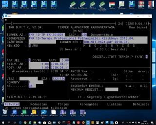TKR 10-Termék Professional Felhasználói Kézikönyv 2019.04.