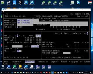 PDF nyomtató 1. ; TKR Interface, PDFPrinter