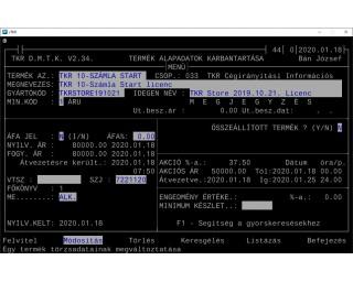 TKR 10-Számla Start licenc